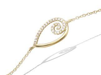 bracelet spirale pl or