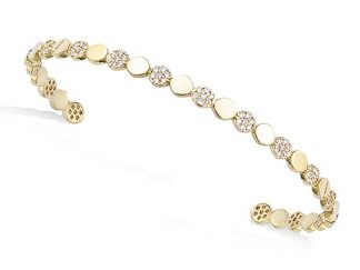 Bracelet jonc plaqué or alternées