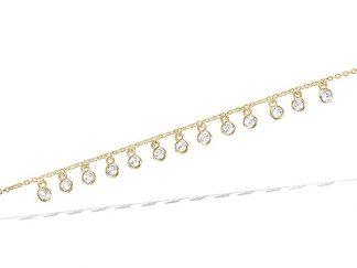 Bracelet or pampilles oxydes