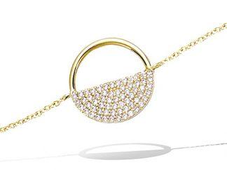Bracelet or semi pavage oxydes