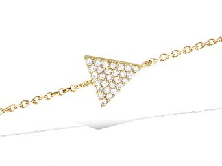 Bracelet or triangle pavage oxydes
