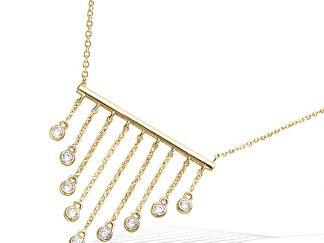 Collier or barres pendantes