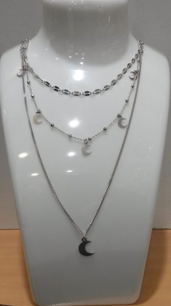 collier 3 chaines argent