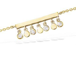 Bracelet or pampilles alternées