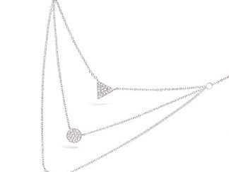Collier argent multirang oxydes