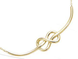 collier plaqué or noeud marin