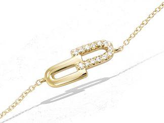 Bracelet or géométrique