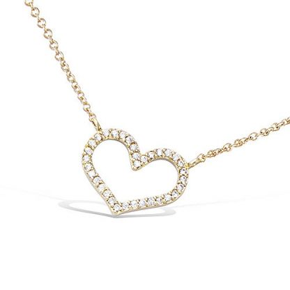 collier plaqué or coeur