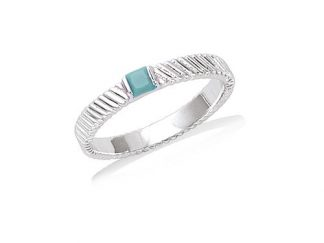 bague carree turquoise