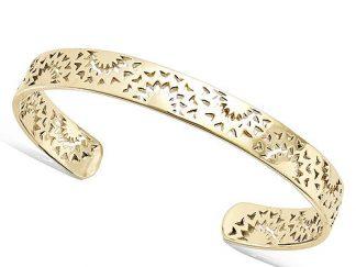 Bracelet jonc plaqué or bohème