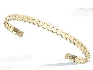 Bracelet jonc or bohème pastille