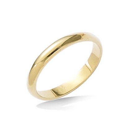 Bague jonc or anneau 3mm