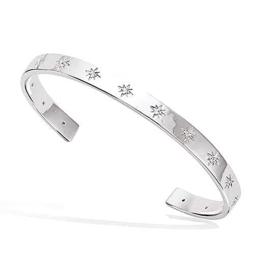 bracelet jonc argent étoile