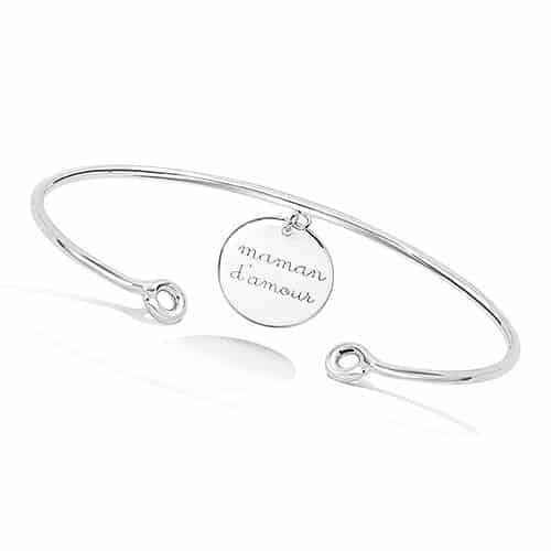 Bracelet jonc maman d'amour