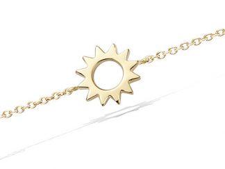 Bracelet or forme soleil