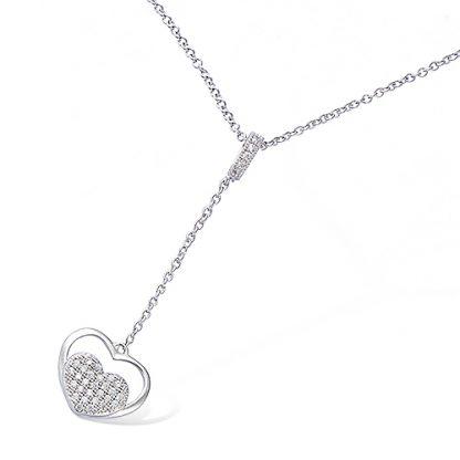 collier double coeur argent