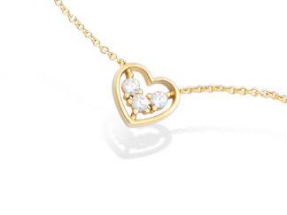 collier coeur pl or