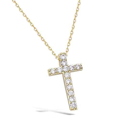 collier plaqué or croix