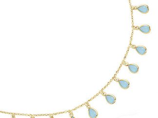 collier goutte pampille pl or