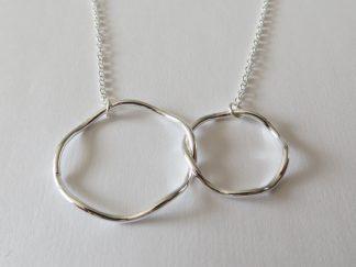 collier argent double anneaux