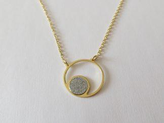 collier pastille et anneau