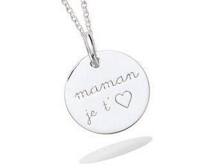 pendentif argent maman je t'aime