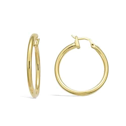 boucle oreille creole 30mm pl or