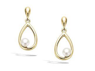 boucle oreillegoutte perle pl or