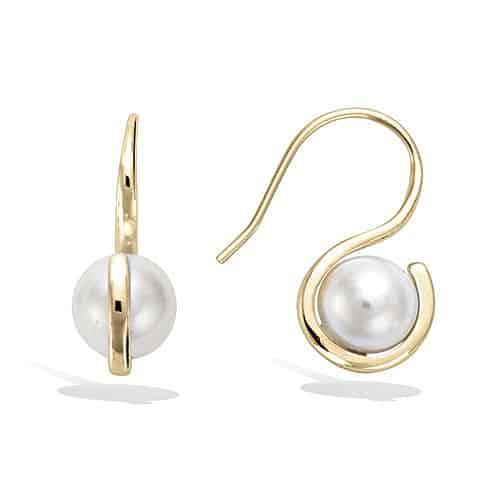 boucle oreille perle sur crochet