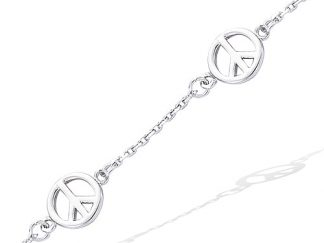 bracelet argent Peace and Love