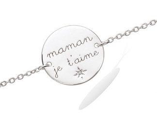 bracelet argent maman je aime
