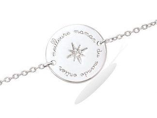 bracelet argent meilleure maman