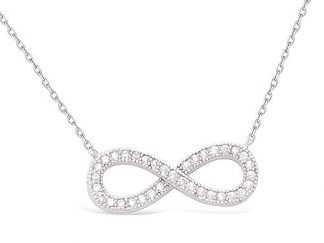 Collier argent infini oxydes