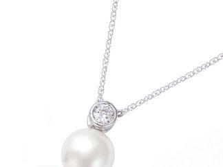 collier perle blanche argent