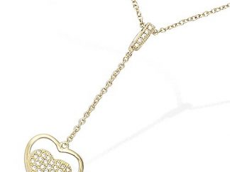 collier double coeur pl or