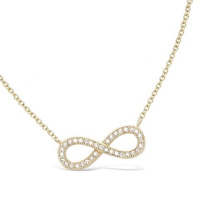 collier plaqué or infini