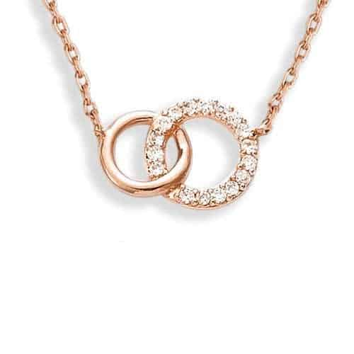 collier double cercle pl or