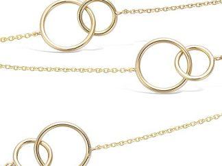 Collier sautoir or anneaux lisses