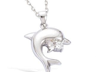 pendentif argent dauphin