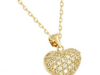 pendentif plaqué coeur arabesque