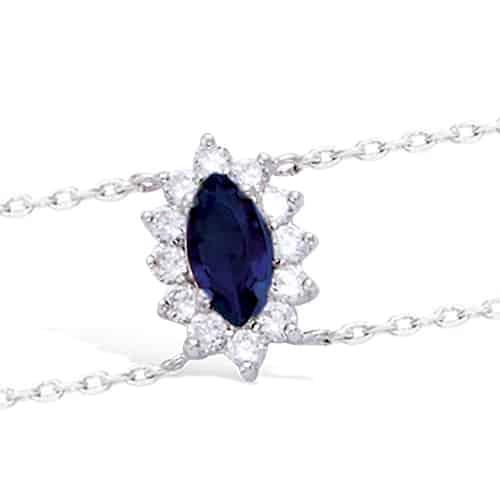 bracelet femme argent bleu
