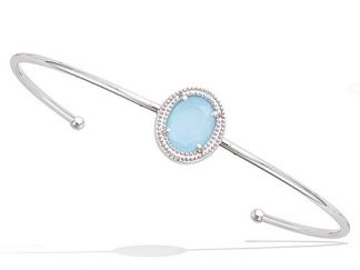 braceler argent milky bleu
