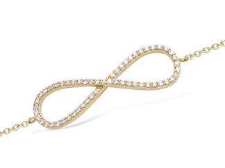 bracelet plaqué or infini