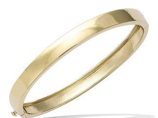 bracelet plaqué or bombé large