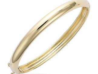 bracelet plaqué or bombé