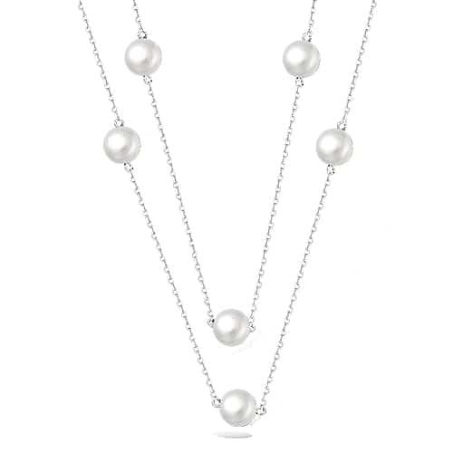 collier femme sautoir perle