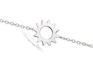 Bracelet argent forme soleil