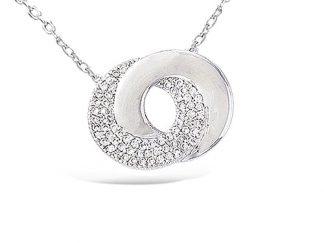 collier argent double cercle
