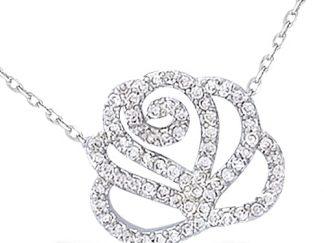 collier argent fleur oxydes
