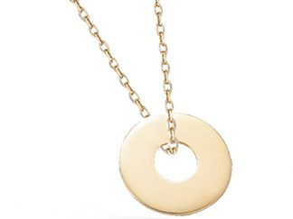 collier disque pl or